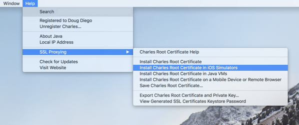 Charles - Install Root Cert iOS