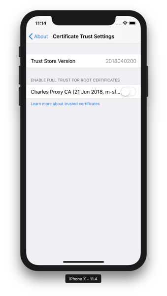 Charles - iOS Trust Settings